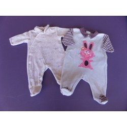 Lot de pyjamas Natalys/Kiabi fille 1 mois