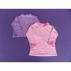 Lot de Tee-shirts Cadet Roussel fille 1 an