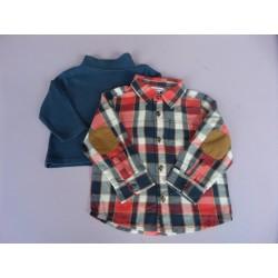 Lot sous-pull + chemise 2-3 ans