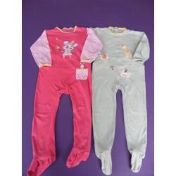 Lot de pyjamas fille jersey 1 pièce 3 ans