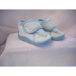 Pantoufles montantes bleues T18