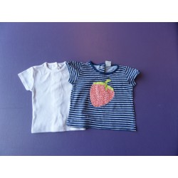 Lot de t. shirts H&M/Kitchoun 3 mois