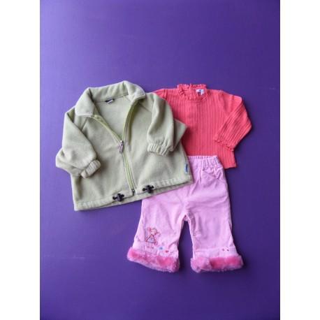 Ensemble pantalon velours fille 6 mois
