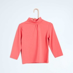 Neuf ! Sous-pull uni col froncé rose NKY taille 10 ans