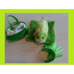 Zhu Zhu Hamster vert + access + Couverture + Sac De Transport