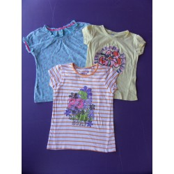 Lot T-shirts fille 4-6 ans