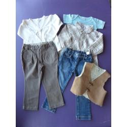 Lot 6 pièces pantalons fille 3 ans