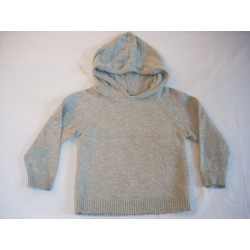 "Pull capuche gris ""In Extenso"" 1A"