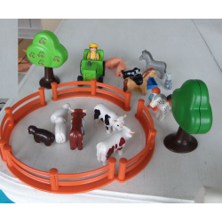 Lot Playmobil 123 ferme