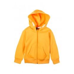 Neuf ! Sweat zippé jaune Mini Gang 4 ans
