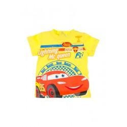 Neuf ! T-shirt imprimé Cars jaune 18 mois