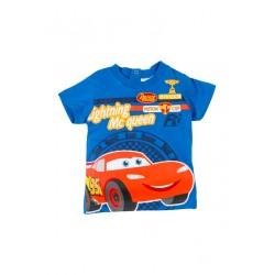 Neuf ! T-shirt imprimé Cars bleu 18 mois