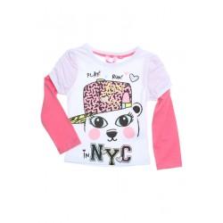 Neuf ! T-shirt imprimé effet 2 en 1 fille 2 ans