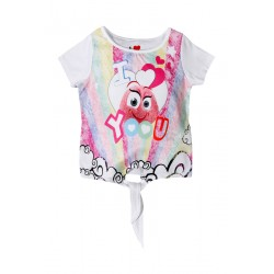 Neuf ! T-shirt imprimé Haribo blanc fille 3 ans