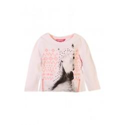 Neuf ! T-shirt imprimé cheval fille 4 ans