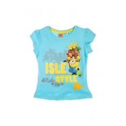 Neuf ! T-shirt imprimé Minions fille bleu 6 ans