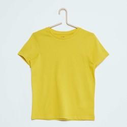 Neuf ! T-shirt uni jaune vif b.a. Basic 18 mois