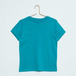 Neuf ! T-shirt uni bleu b.a. Basic 18 mois