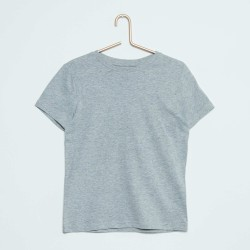 Neuf ! T-shirt uni gris chiné b.a. Basic 1 an