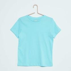 Neuf ! T-shirt uni turquoise b.a. Basic 3 mois