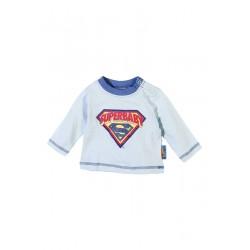 Neuf ! T-shirt manches longues imprimé Superman bleu 3 mois