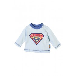 Neuf ! T-shirt manches longues imprimé Superman bleu 6 mois