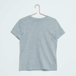 Neuf ! T-shirt uni gris chiné ba Basic 6 mois
