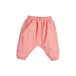 Neuf ! Pantalon sarouel uni rose saumoné 2 ans
