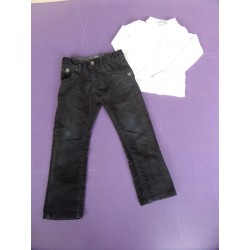 Ensemble pantalon velours 3-4 ans