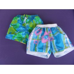 Lot de 2 shorts de bain 4 ans