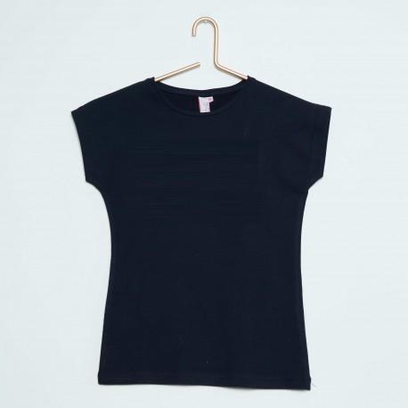 Neuf ! T-shirt uni noir fille Punkidz 6 ans