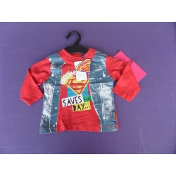 Neuf ! Tee-shirt manches longues Super Baby 12 mois