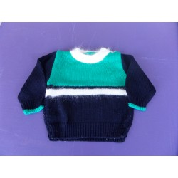 Pull laine et angora fait main 1 an