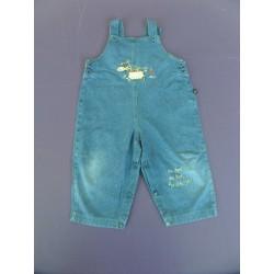 Salopette denim léger Lapin Bleu 18 mois