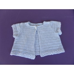 Cardigan maille crochet fille 6 mois