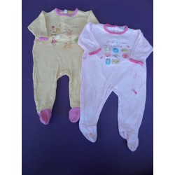 Lot de pyjamas jersey fille 6 mois