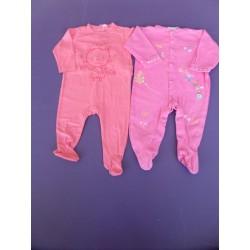 Lot de pyjamas jersey fille printés 6 mois