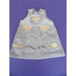 Robe bretelles toile 1 an