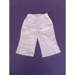 Pantalon fille toile printé fleurs 12 mois
