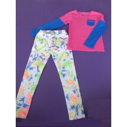 Ensemble pantalon pop colors fille 8 ans