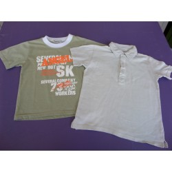 Lot tee-shirt printé + polo 8 ans