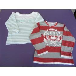 Lot t.shirts printés manches longues 6 ans