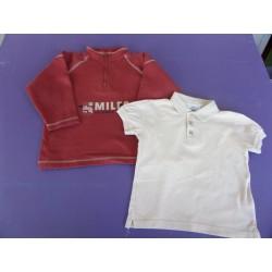 Sweat zippé et polo garçon 3 ans