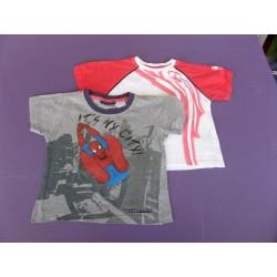 Lot de 2 tee-shirts Spider/Viper 4 ans
