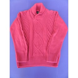Pull maille Jules rouge taille L