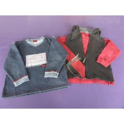 Lot sweat + gilet zippé + tee-shirt 6 ans