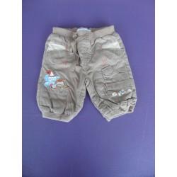 Pantalon popeline brodé doublé 1 mois