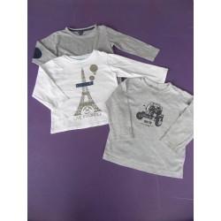 Neuf ! Lot de 2 t-shirts uni + imprimé 2 ans