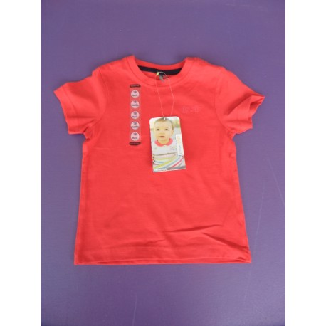 104b27b694a78 Neuf ! T-shirt uni rouge Orchestra 18 mois - Caillou Flacoti