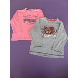 Lot de 2 t.shirts Spider Man/Verbaudet 5-6 ans